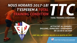 Ampliem dies i horaris del Total Training Condition
